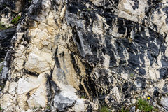 Black and white rocky structure Royalty Free Stock Photos