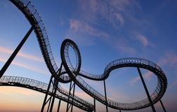 Black and White Roller Coaster Stock Photo