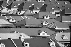 Black and white roof. Abstract black and white photographs of all the colors look even more attractive Stock Photography