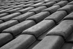 Black/White Roof Royalty Free Stock Photo