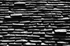 Black and white roof tiles Royalty Free Stock Images