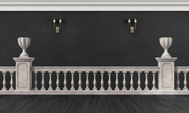 Black and white room in classic style Royalty Free Stock Photos