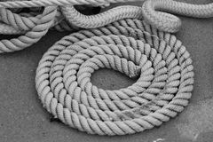 Black and White Rope royalty free stock photography