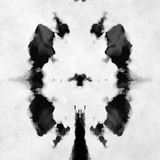 black and white Rorschach test Stock Photo