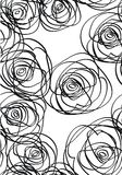 Black and White roses. Repeat Background With Black and White roses Stock Photos