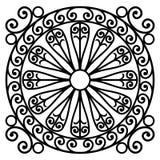 Black and white rosette design Stock Images