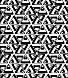 Black and white rotated triangles Stock Photos