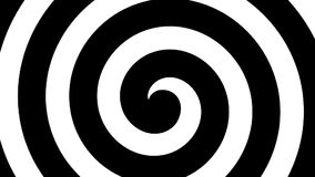 Black and white rotating spiral, HD seamless loop, hypnotizing effect stock footage