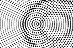 Black on white rough halftone texture. Concentrated dotted gradient. Contrast dotwork surface for vintage effect. Monochrome halftone vector overlay royalty free illustration