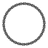 Black and white round frame with celtic ornament Stock Photography
