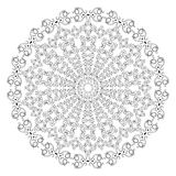 Black and white round lace pattern. Stock Image