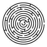 Black and white round maze Stock Image