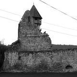 Black and White. Ruins of medieval cistercian abbey Carta, in Transylvania Royalty Free Stock Photos