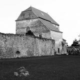 Black and White. Ruins of medieval cistercian abbey Carta, in Transylvania Stock Image