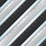 Black and white rulers background Royalty Free Stock Photo