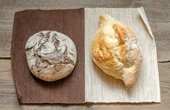 Black and white - rye and wheat bread Stock Image