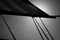 Black and white sail Stock Image