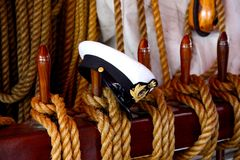 Black and white sailor hat Royalty Free Stock Photos