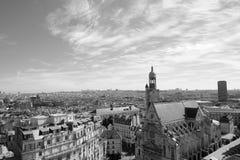 Black and white Saint-Etienne du Mont Stock Photos
