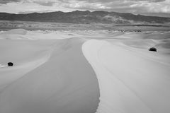 Black and White sand dunes. Stock Photography