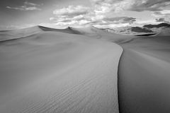 Black and White sand dunes. Royalty Free Stock Image