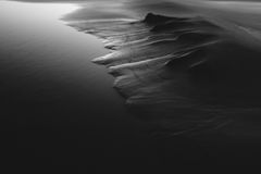 Black and white sand Stock Photography