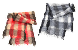 Black and white scarf Royalty Free Stock Photography