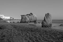 El Matador State Beach. Black and white scenic view of El Matador State Beach, Malibu, California, USA Stock Images