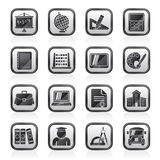 Black an white school and Education Icons. Vector icon set Stock Illustration