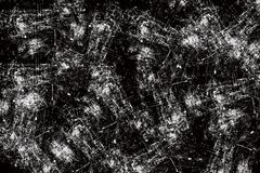 Black and white scratches abstract background Royalty Free Stock Images