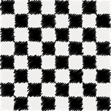 Black and white scribble square's chart pattern. Stock Photos