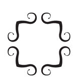 Black & White Scroll Frame. With Clipping Path Royalty Free Stock Images