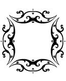 Black & White Scroll Frame. Black & White Scroll Frame with Clipping Path Royalty Free Stock Photography