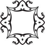 Black & White Scroll Frame Stock Images