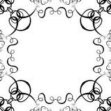 Black & White Scroll Frame Background Stock Photography