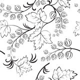 Black-and-white seamless. With abstract currants. Vector available Royalty Free Stock Images