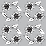 Black and white seamless background Royalty Free Stock Images