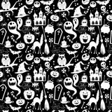 Black and white seamless background abstract pattern for hallowe Stock Photography