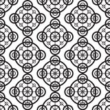 Black and white seamless background pattern ornament. Modern stylish repeating texture. Royalty Free Stock Photo