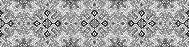 Black and white Seamless Border Scroll. Geometric. Watercolor Frame. Admirable Seamless Pattern. Medallion Repeated Tile. Breathtaking Chevron Ribbon Ornament royalty free stock photography