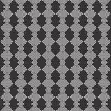 Black and white seamless check geometrical pattern Stock Photo