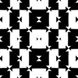 Black and White Seamless Check Pattern Stock Image