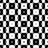 Black and White Seamless Check Pattern Royalty Free Stock Photography