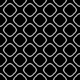 Black and white seamless curved pattern royalty free illustration