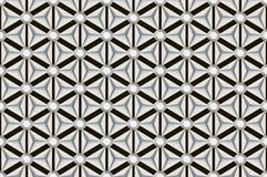 Black and white seamless diamond facets pattern Royalty Free Stock Photography