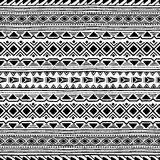 Black and white seamless ethnic background. Vector illustration. Drawing by hand Royalty Free Stock Image