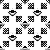 Black and White Seamless Ethnic Pattern. Vintage, Grunge, Abstract Tribal Background for Textile Design, Wallpaper, Surface Textures, Wrapping Paper Royalty Free Stock Photos