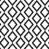 Black and White Seamless Ethnic Pattern Royalty Free Stock Photos