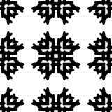 Black and White Seamless Ethnic Pattern Royalty Free Stock Images