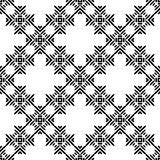 Black and White Seamless Ethnic Pattern Royalty Free Stock Photography